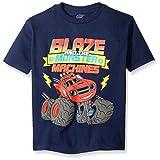 Blaze and the Monster Machines Little Boys' Short Sleeve T-Shirt Shirt, Navy, Small - 4