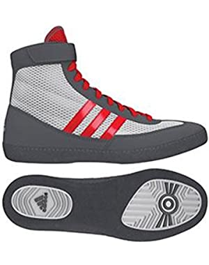 Combat Speed 4 Youth Wrestling Shoes - White/Red/Grey - 6