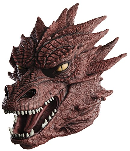 Rubie's Costume Co Men's The Hobbit Oversize Masterpiece Smaug Mask, Multi, One Size (Dragon Lord Costume)