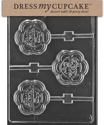 Dress My Cupcake Chocolate Candy Mold, Happy Mother's Day Lollipop