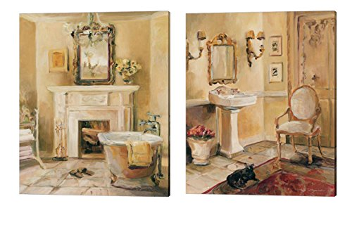 French Bath by Marilyn Hageman, 2 Piece Canvas Art Set
