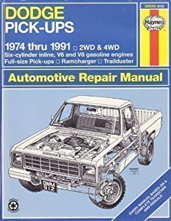 Dodge fullsize pick ups 1974 thru 1993 2wd 4wd six cylinder dodge pick ups automotive repair manual1974 thru 1991 2wd and 4wd six fandeluxe Images