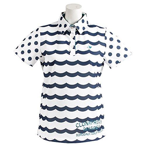 クランク(クランク) WAVEボーダーポロシャツ MC8S-LNBD WHNVY (ホワイト×ネイビー/M/Lady's)