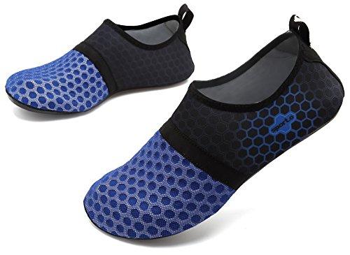 Herren für Schwimmen navy Damen üben Barfuß Socken Strand Pool adituob Wasser L Aqua Sportschuhe 4wPP0z