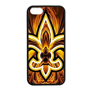 Zyhome iPhone 5,5S Abstract NFL New Orleans Saints Football Logo Case Cover for iPhone 5,5S TPU (Laser Technology)