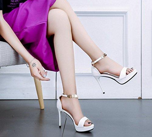 HBDLH Damenschuhe Leere Tasche und Sandalen Sommer in Ihren Hochhackigen Hochhackigen Hochhackigen Schuhen 10Cm Faltet und Sexy Damenschuhen. 6eaa3c