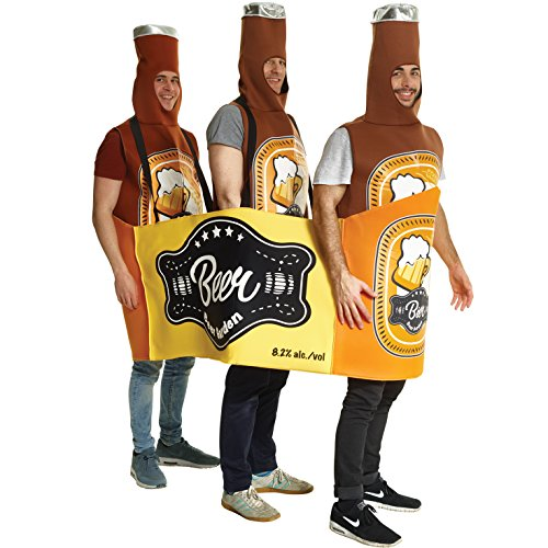 Morph Funny Beer Bottle and Case Costume Perfect for Bachelor Stag Party - One Size -