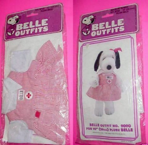 Candy Striper Nurse Outfit - Peanuts Snoopy Belle Outfit for 10