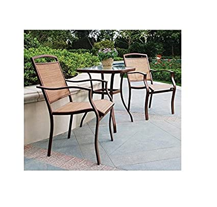 Mainstays Sand Dune 3 Piece Outdoor Bistro Set, Seats 2