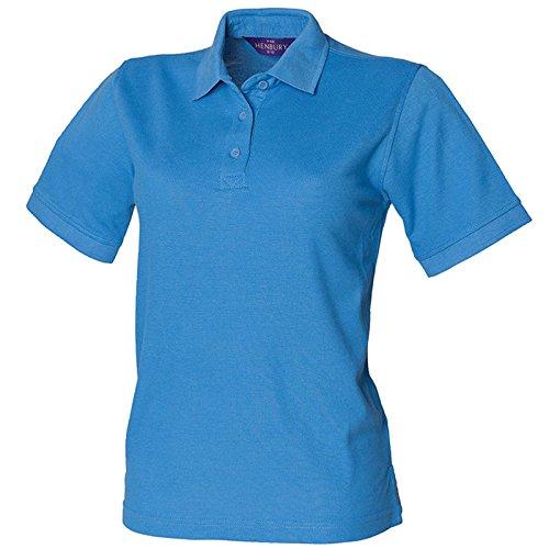 Henbury - Polo - para mujer Mediados De Azul