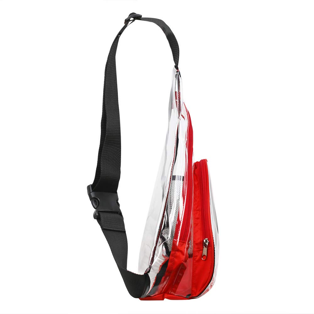 Clear PVC Sling Bag - Stadium Approved Transparent Shoulder Crossbody Backpack for Women & Men,Perfect for Work, Travel, Stadium and Concerts by Magicbags (Image #3)