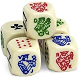 Brybelly Set of 5 Poker Dice, Great for Travel