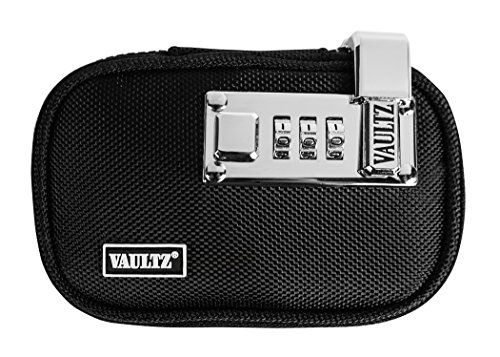 VaporVaultz Locking Mini Plush Pouch, 1 x 5.5 x 3.5 Inches, Black (VZ00659)