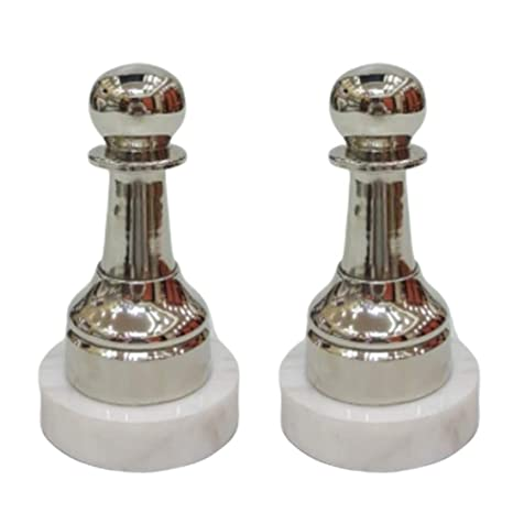 SMKGN Metal Chess Pieces Best for Decorative and Gifting Purpose. (Set of 2)