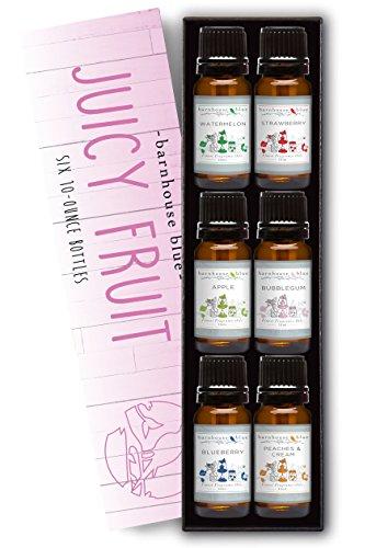premium-grade-fragrance-oil-juicy-fruit-gift-set-6-10ml-bottles-apple-blueberry-bubble-gum-peaches-c