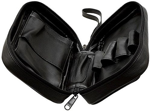 Columbus Four Pipe Travel Case Pipe Pouch - Black