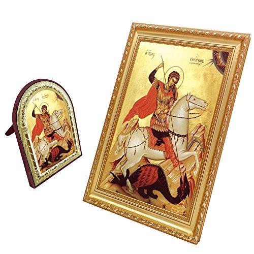 George Icon (FengMicon Saint George Frame Catholic Gift Christian Icon Set)