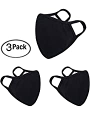 Anti Flu and Saw Dust Masks - Reusable Cotton Comfy Breathable Safety Air Fog Respirator - for Outdoor Half Face Masks - Protection Pollution Face Flu Germs Allergens Masks for Women Man Black