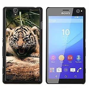 LECELL--Funda protectora / Cubierta / Piel For Sony Xperia C4 -- Tigre lindo bebé --