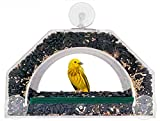 Image of Grateful Gnome - Bridge - Window Bird Feeder - Clear Acrylic House for Small Birds Like Finch and Chickadee - Holds Up to 4 Cups - (Virtually Squirrel Proof)