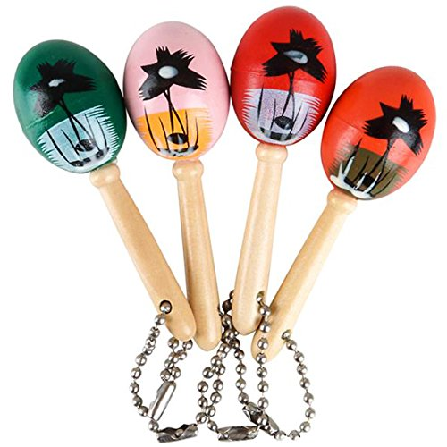 Mini Wooden Hand Painted Maracas Keychains 2 Dozen Keychains - Great Party Favors for Cinco De Mayo Celebrations, Parades, Fiestas and Birthday Parties]()