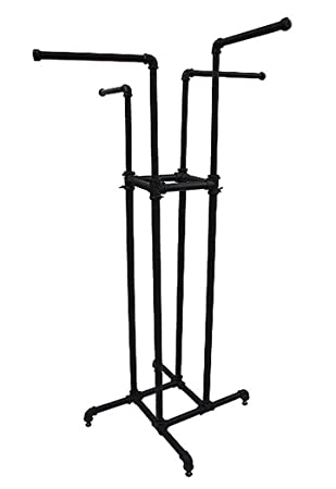 Amazon.com : 4 Way Pipe Rack Clothing Garment Display Retail ...