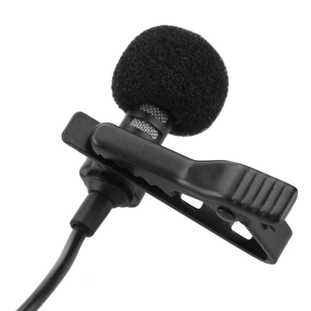 GHSUEBHL Mini micrófono lavalier micrófono de clip de corbata ...