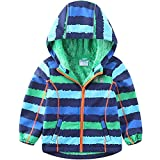 umkaumka Baby Boy Winter Jackets Waterproof and Breathable Kids Hoodie Fleece Lined Lightweight Windbreaker Spring Autumn 12-18 Months