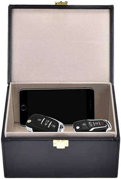 Luoistu Caja antirrobo con bolsa bloqueadora de señal RFID para llaves de coche y teléfono celular Negro: Amazon.es: Coche y moto