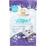 HappyYogis Yogurt Snacks - Made with Organic Greek - Babies and Toddlers - Blueberry and Purple Carrot - 1 oz - case of 8 -