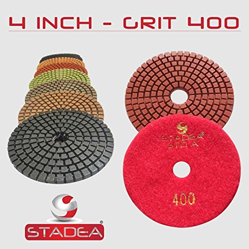 Stadea DPPW04STDA400G10 Granite Wet Diamond Polishing Pad...