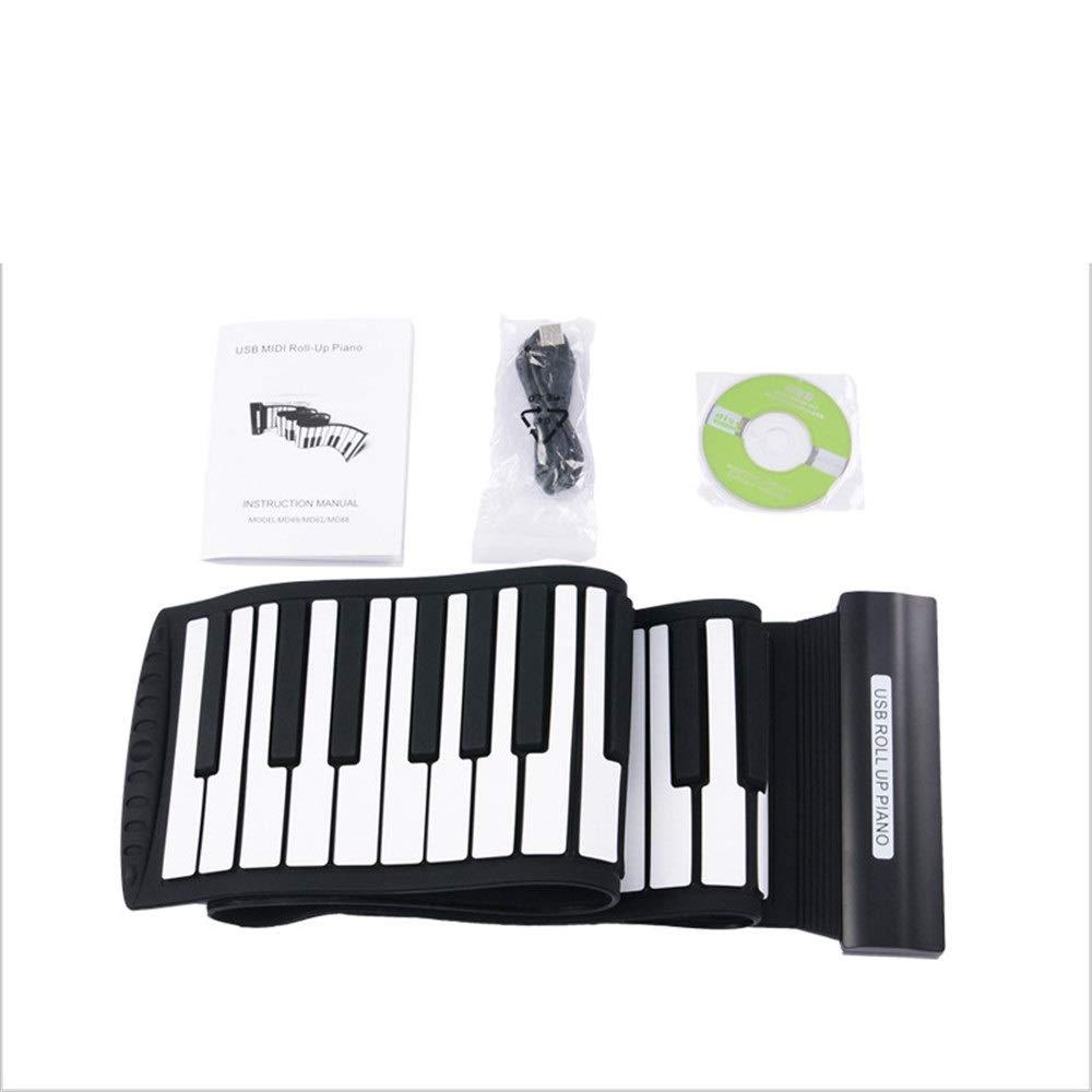 フレキシブルロールアップピアノ/マックスOSX対応 厚くなったUSB : MIDI 88キーフレキシブルソフトシリコン電気デジタル折りたたみ式キーボードピアノ録音機能付きウィンドーXP/ビスト/ウィン7 Free/マックスOSX対応 初心者向け (色 : ブラック+ホワイト, サイズ : Free size)Free sizeブラック+ホワイトB07QCY4P37, 北海道 スイートますや:c4316993 --- publishingfarm.com