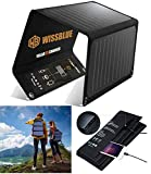 WISSBLUE Solar Charger, 21W Dual USB 4.2A Fast Solar Panel Charger, Portable Camping Travel Charger,Hiking,Hurricane, Emergency Backup. for All 5V Devices, iPhone iPad Samsung Kindle etc.