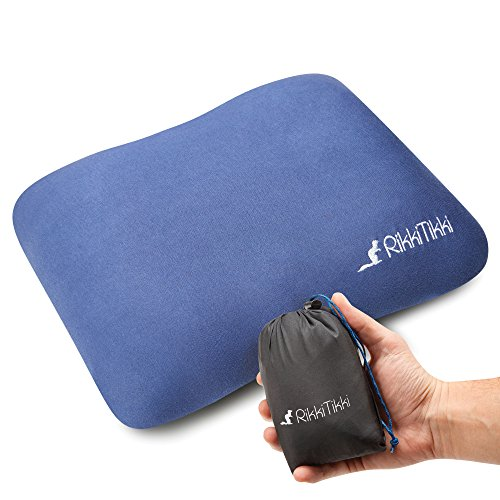Inflatable Travel Pillow – Camping Outdoor Pillow – Backpacking Air Pillow – Portable Blow up Ultralight Pillow – Inflating Comfortable Compact Lightweight Compressible pillow with (Inflatable Pillow)