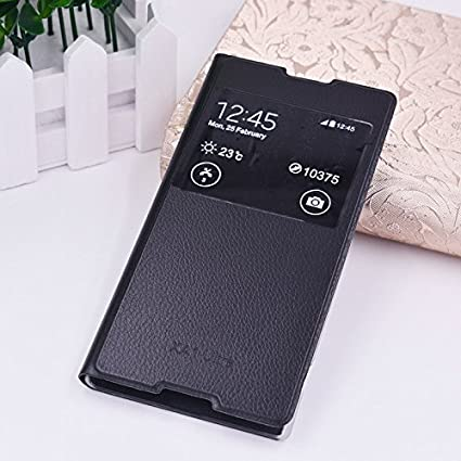 meet c3a50 48551 SmartLike Window Flip Cover for Sony Xperia XA1 Ultra G3221, G3212, G3223,  G3226, 6-Inch (Black)