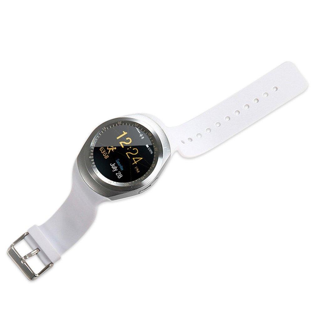 SoloKing T90 Reloj inteligente,bluetooth 3.0 reloj deportivo Con TF / tarjeta SIM Podómetro anti-perdida Para Android 4.3 y iOS 7 (blanco): Amazon.es: ...