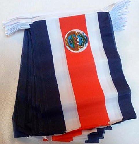 AZ FLAG Guirnalda 6 Metros 20 Banderas de Costa Rica 21x15cm - Bandera COSTARRICENSE 15 x 21 cm - BANDERINES: Amazon.es: Hogar
