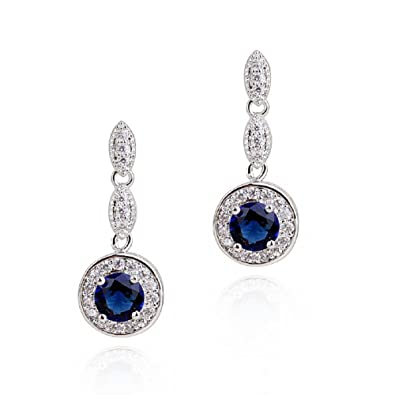 Teardrops Dangle Earrings with Green Simulated Emerald Zirconia Crystals18 ct Gold Plated for Women xw6DeYRS8