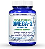 Fish Oil Pills – Pharmaceutical Quality – Triple Strength Omega 3 Burpless Capsules (1 Pack) For Sale