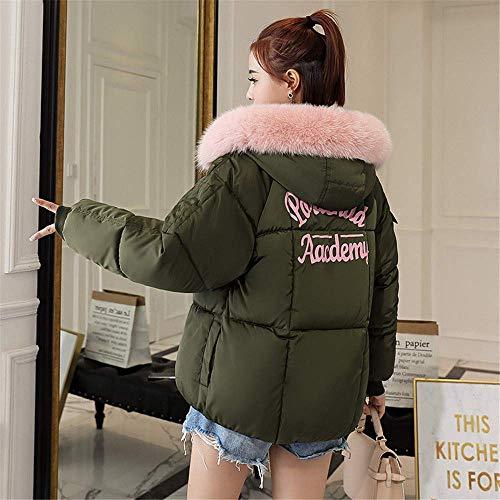 B3 Glamorous Più Da Semplice Cappuccio Abbigliamento grün Donna Trapuntato Giacche Corto Cotone Capispalla Caldo Spesso Invernale Imbottite Cappotto 5CpwRnqan