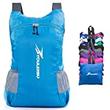 Cheap YOULERBU Light Packable Backpack,25L Daypack Waterproof Duarble Foldable Day Pack Carry on Bag Travel Outdoor Hiking for Women Men Blue