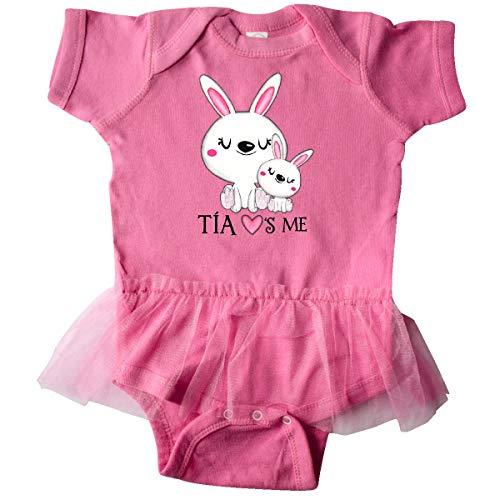 inktastic - Tía Loves Me- Bunny Infant Tutu Bodysuit 24 Months Raspberry -