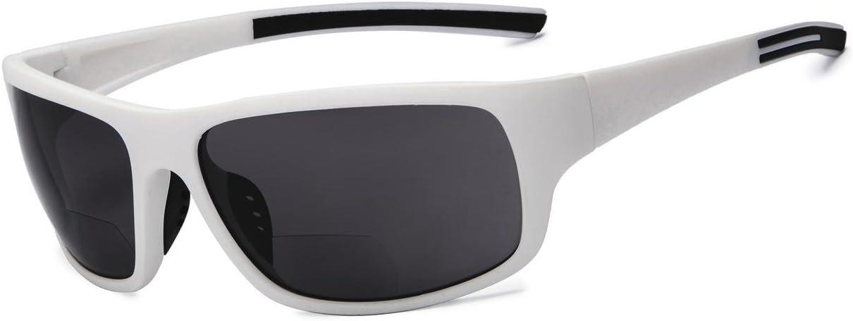 TALLA +1.50. Eyekepper bifocales gafas de sol +1.50 fuerza gafas de sol de lectura (Blanco Marco Gris Lens)