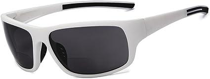 TALLA +1.00. Eyekepper bifocales gafas de sol +1.00 fuerza gafas de sol de lectura (Blanco Marco Gris Lens)