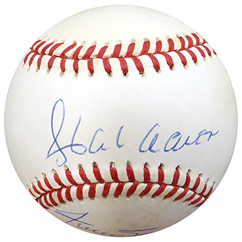 500 HR Club Autographed Official NL Baseball With 10 Total Signatures Including Hank Aaron & Willie Mays Beckett BAS - Mays Signature Willie