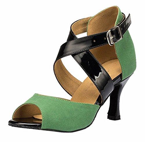 TDA - Zapatos con tacón mujer 7.5cm Heel Green