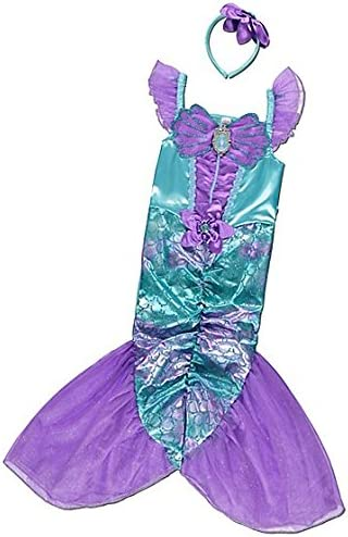 Girls Disney Princess Ariel the Little Mermaid Fancy Dress Up Costume