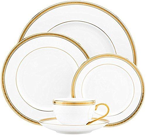Kate Spade New York Women's Oxford Place 5 Piece Place Setting White Dinnerware