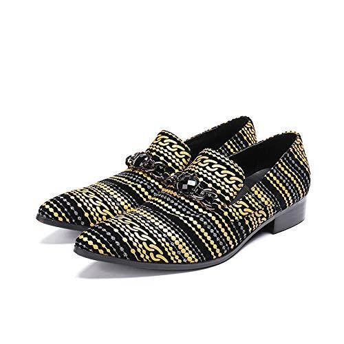 Acquista online LOVDRAM Scarpe in Pelle da Uomo Scarpe Nuovi Uomini Scarpe di Pelle Scarpe da Uomo Scarpe da Uomo Scarpe da Uomo Scarpe Casual Scarpe Nere Scarpe Oxford per Gli Appartamenti Maschili miglior prezzo offerta