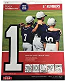 SEI 8-Inch Iron-On Team Pack Athletic Number Transfers, White, 5-Sheet